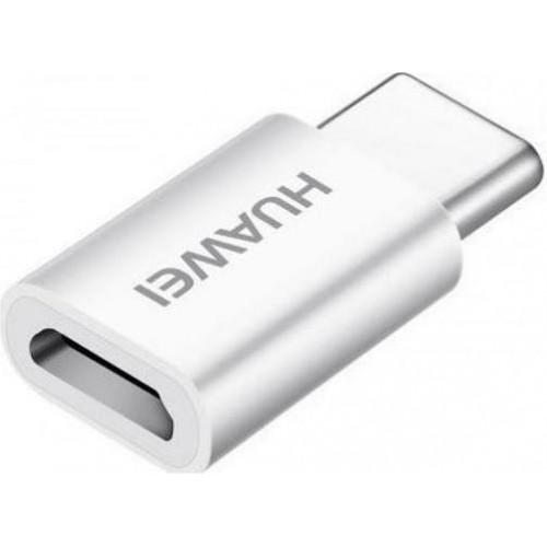 Adapter Huawei AP-52 Micro USB to Type-C Retail - Λευκό