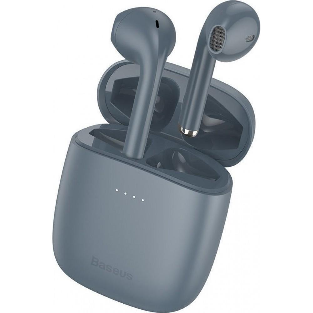 Baseus® W04 Pro NGW04P-0G Wireless Bluetooth Stereo Earbuds - Γκρί