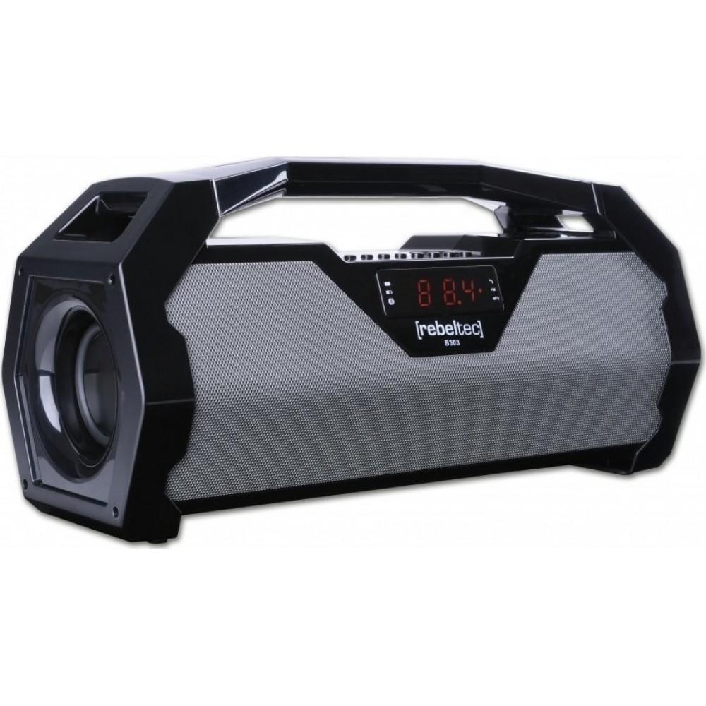 Φορητό Ηχείο REBELTEC SoundBox 400 20W Boombox BT, FM, USB - Μαύρο