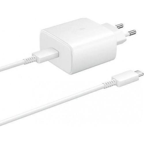 Φορτιστής Original Samsung USB-C Cable + Wall Adapter 45W EP-TA845XWEGWW - Λευκό