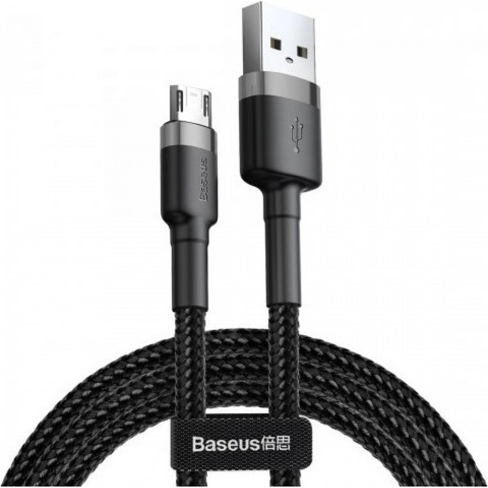 Καλώδιο Baseus® Cafule Braided Cable USB 2.0 to micro USB male 2m (CAMKLF-CG1) - Μαύρο