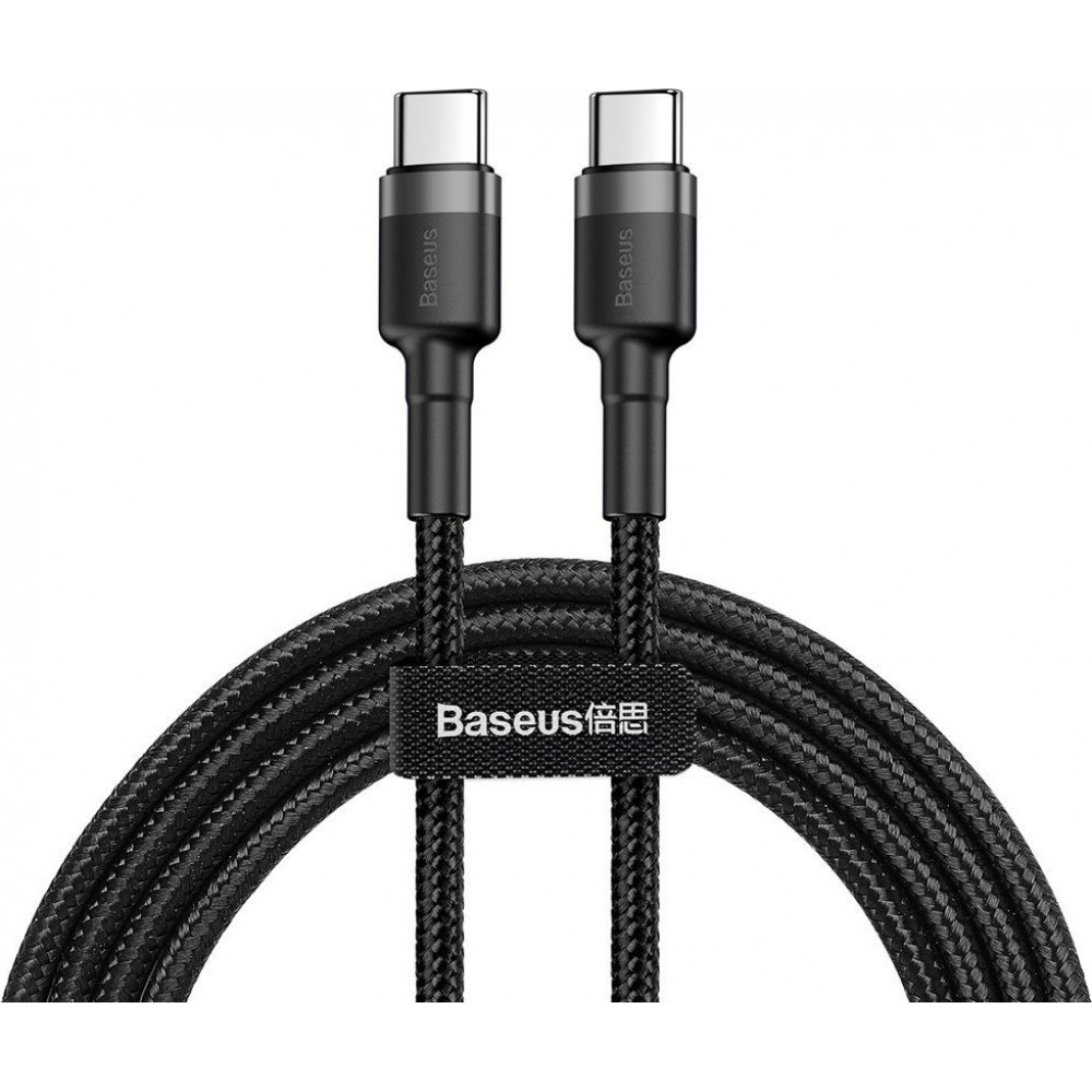 Καλώδιο Baseus® Cafule Braided USB 2.0 USB-C male - USB-C male 2m CATKLF-HG1 - Μαύρο