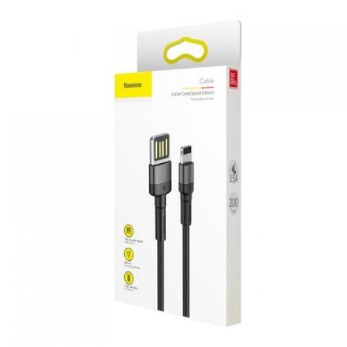 Καλώδιο Baseus® Cafule Braided USB to Lightning male 2m (CALKLF-HG1) - Μαύρο
