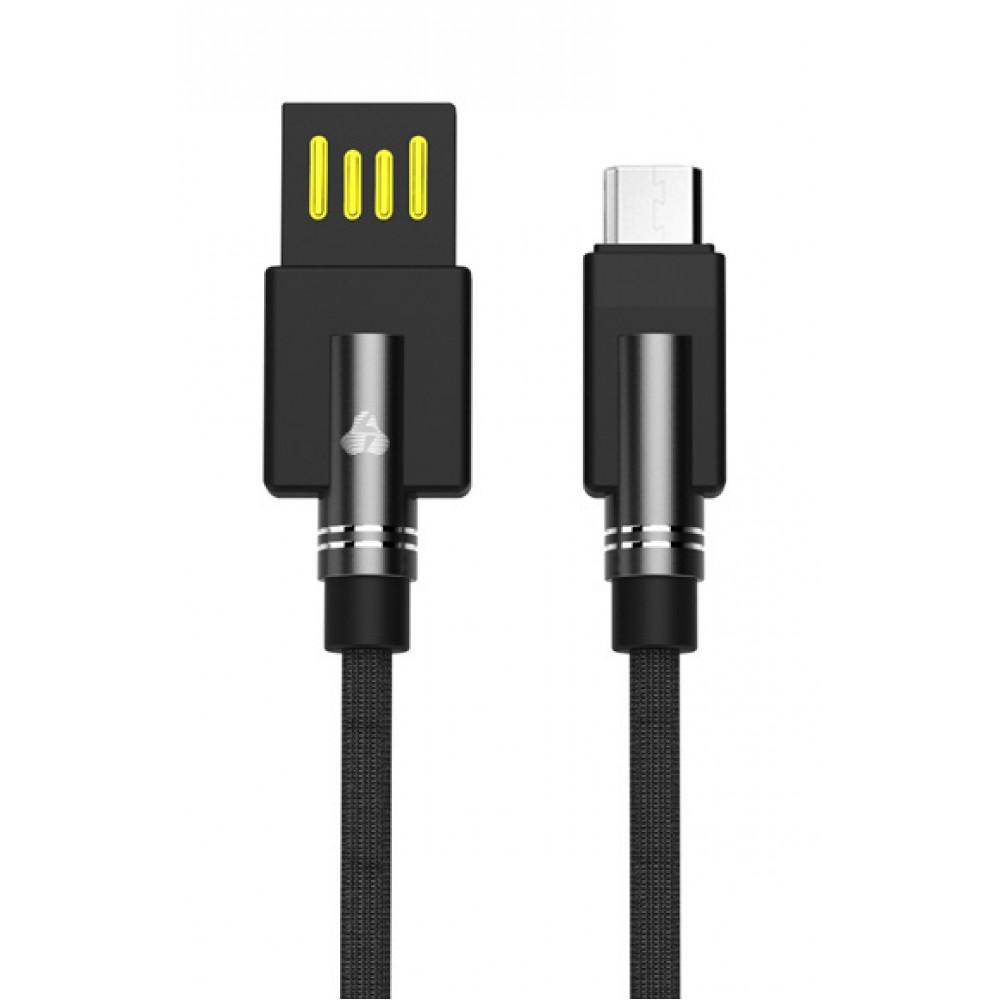 Καλώδιο POWERTECH USB σε Micro USB dual ele PTR-0062 copper, 1m - Μαύρο