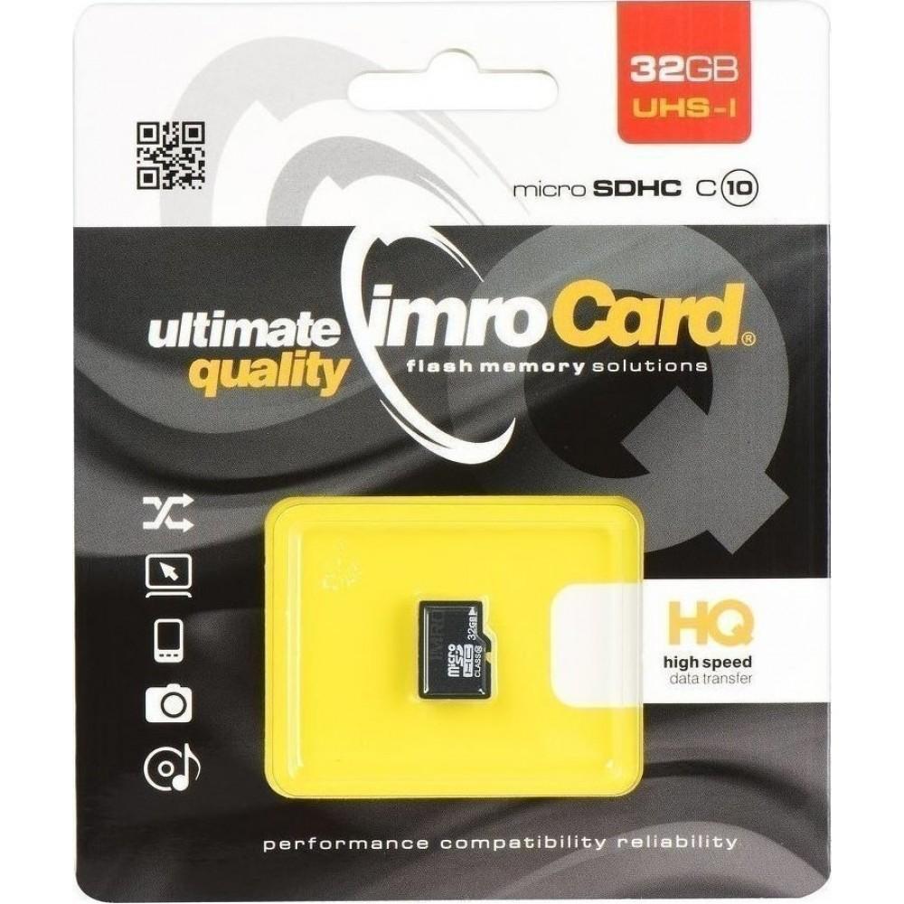 Κάρτα Μνήμης Micro SDHC Imro 32 GB class 10