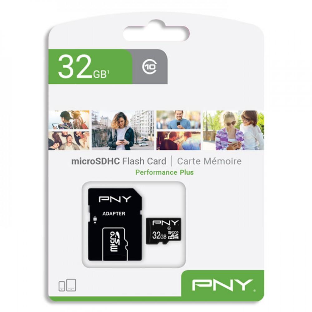 Kάρτα μνήμης PNY MicroSDXC UHS-I U1 32GB Class 10 + Sd Adapter