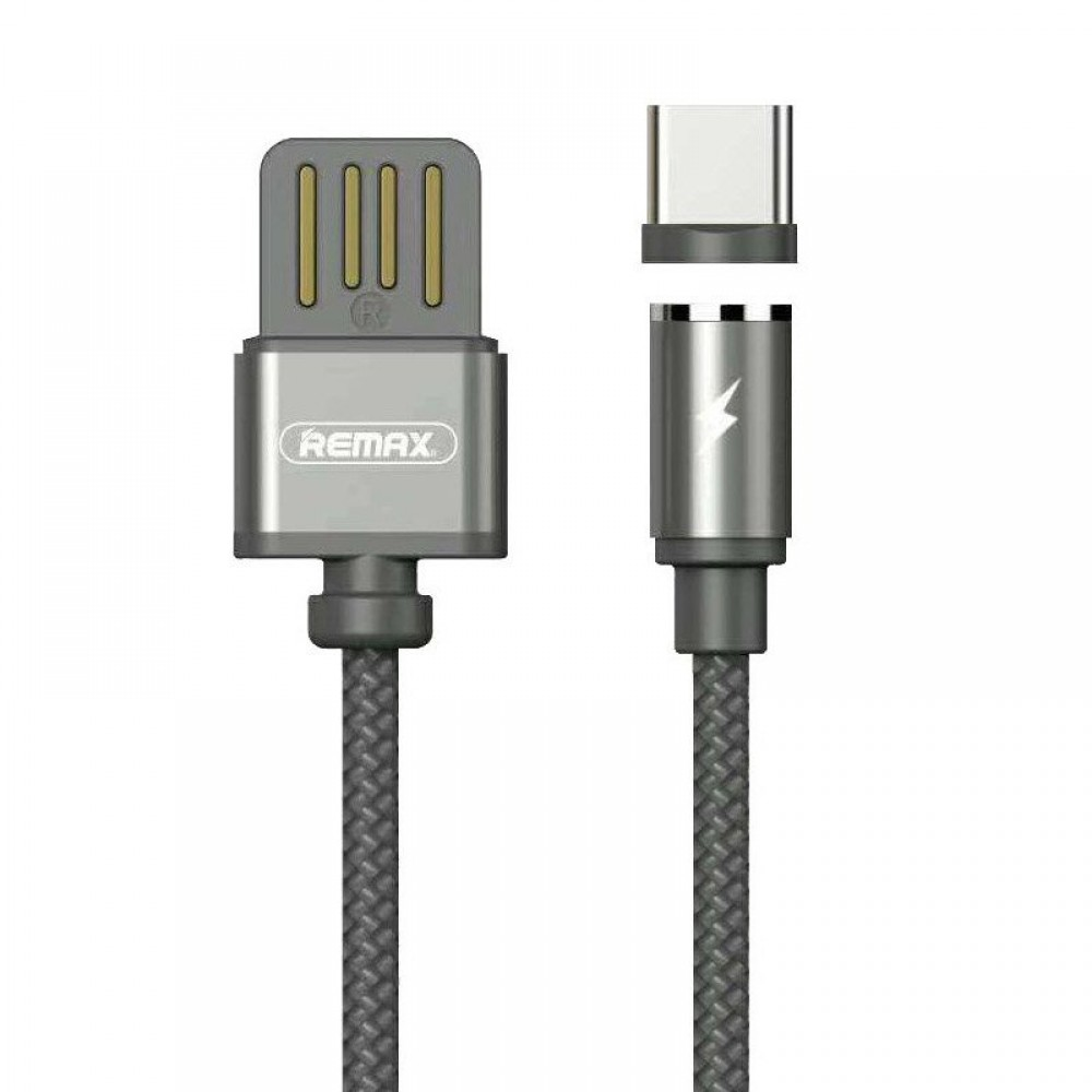 Remax Gravity RC-095a Magnetic USB Type C Cable with LED Light 1M 1.5A - Μαύρο
