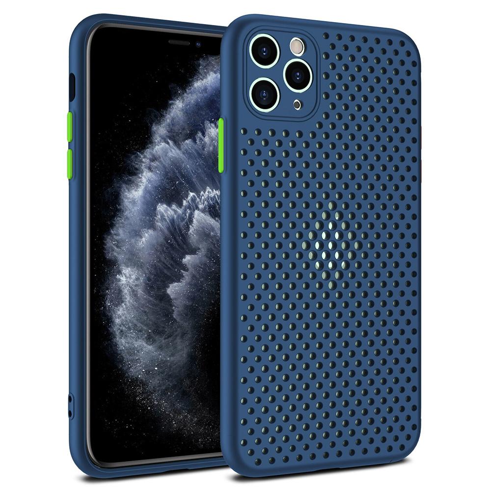 Θήκη Breath TPU Back Cover Σιλικόνης για iPhone 12 Pro Max - Navy Blue