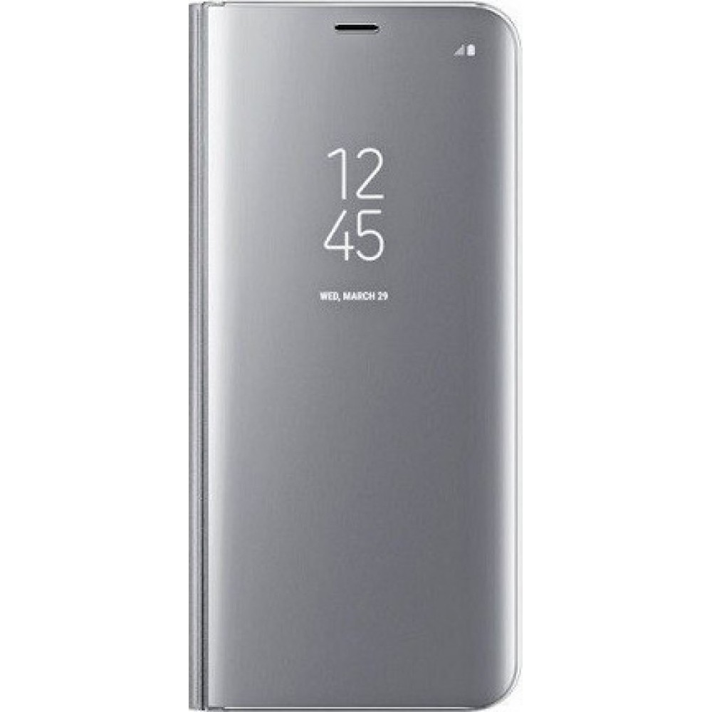 Θήκη Clear View Book για Xiaomi Redmi 9C - Ασημί