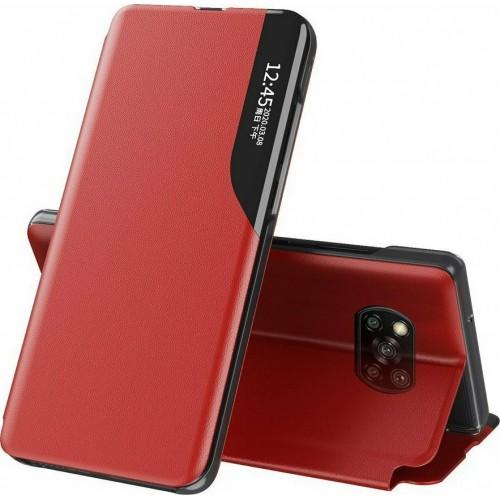 Θήκη Eco Leather View Book για Xiaomi Poco X3 NFC - X3 Pro - Κόκκινο