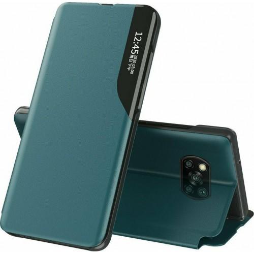 Θήκη Eco Leather View Book για Xiaomi Poco X3 NFC - X3 Pro - Πράσινο