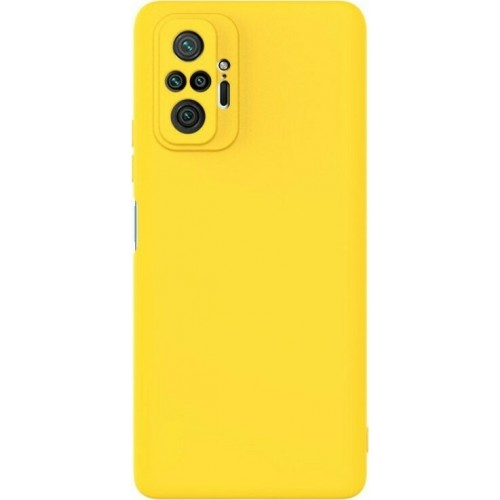 Θήκη Flexible TPU Back Cover Σιλικόνης για Xiaomi Redmi Note 10 Pro - Κίτρινο Matte
