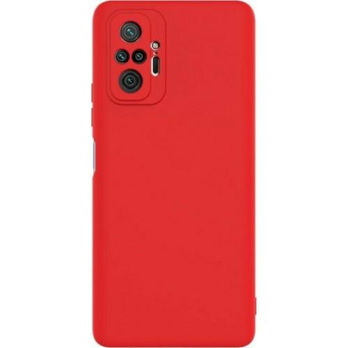 Θήκη Flexible TPU Back Cover Σιλικόνης για Xiaomi Redmi Note 10 Pro - Κόκκινο Matte