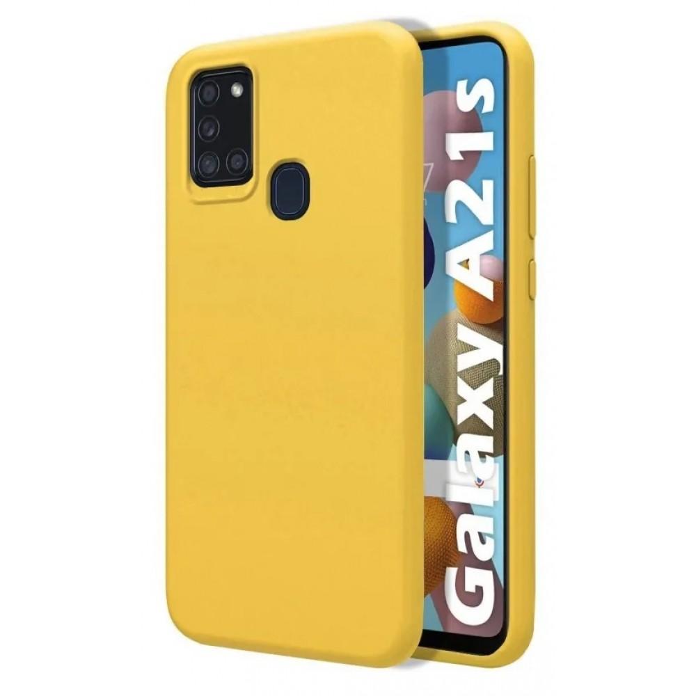 Θήκη Flexible TPU Σιλικόνης για Samsung Galaxy A21s - Κίτρινο Matte