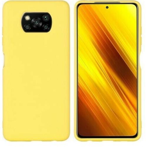 Θήκη Flexible TPU Σιλικόνης για Xiaomi Poco X3 NFC - X3 Pro - Κίτρινο Matte