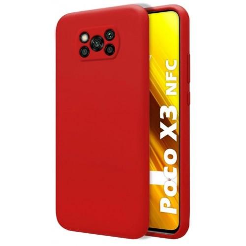 Θήκη Flexible TPU Σιλικόνης για Xiaomi Poco X3 NFC - X3 Pro - Κόκκινο Matte