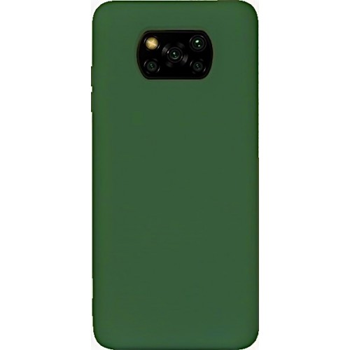 Θήκη Flexible TPU Σιλικόνης για Xiaomi Poco X3 NFC - X3 Pro - Σκούρο Πράσινο Matte