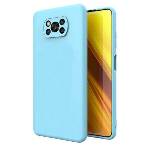 Θήκη Flexible TPU Σιλικόνης για Xiaomi Poco X3 NFC - X3 Pro - Γαλάζιο Matte