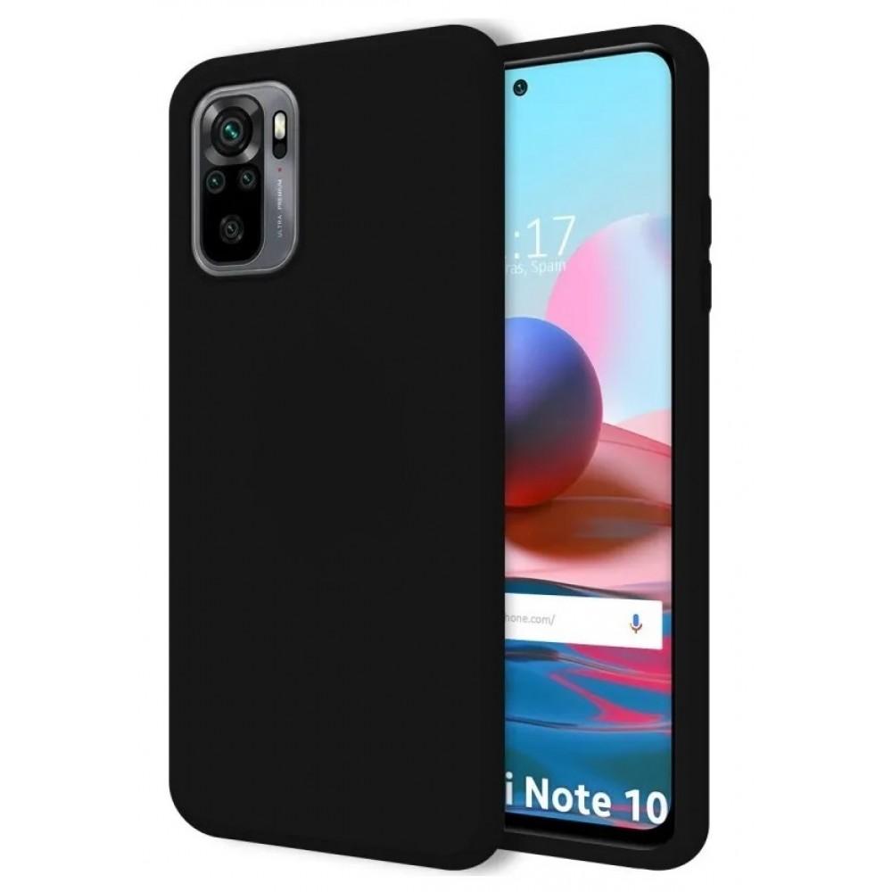 Θήκη Flexible TPU Back Cover Σιλικόνης για Xiaomi Redmi Note 10 - 10S - Μαύρο Matte