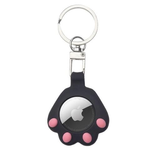 Θήκη Μπρελόκ Cat Paw για Apple AirTag - Μαύρο