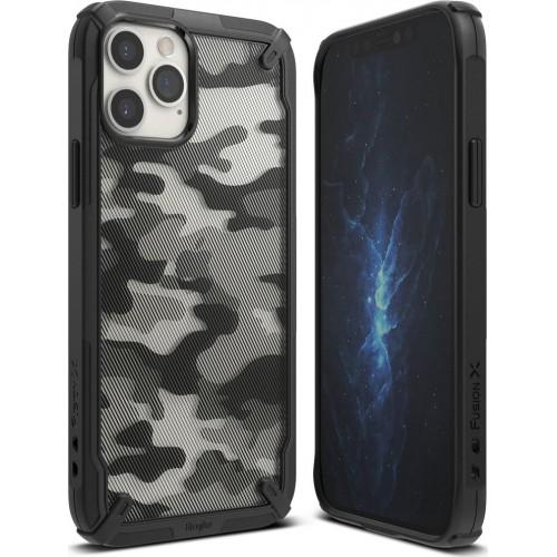 Θήκη Ringke® Fusion X Back Cover για iPhone 12 - 12 Pro - Camo Black