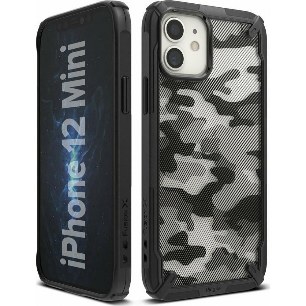 Θήκη Ringke® Fusion X Back Cover για iPhone 12 Mini - Camo Black