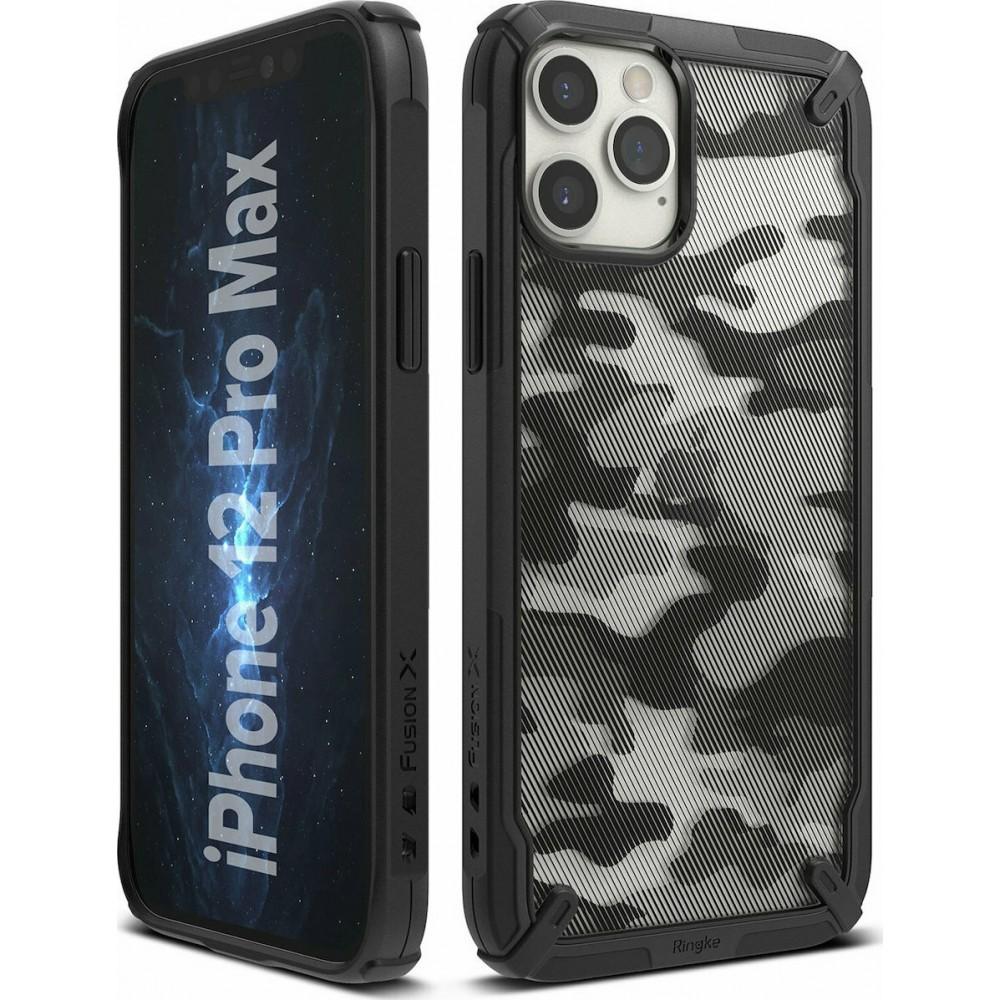 Θήκη Ringke® Fusion X Back Cover για iPhone 12 Pro Max - Camo Black